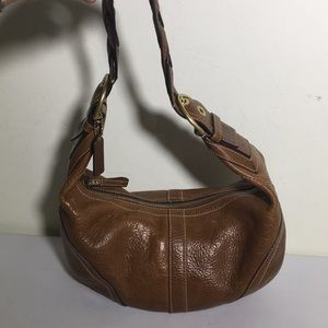 Coach Dylan Soho Distressed Brown Leather Bag